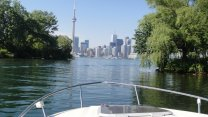 New Speedboat Time Blazing Down The Toronto Island Marina