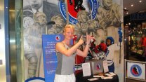Authograph Session By John Taveres At Canada's Hockey Hall Of Fame In Toronto