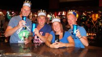 Cheering For The Blue Knight At Medieval Times In Toronto