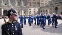 Changing of the Guards at Gamla Stan In Stockholm