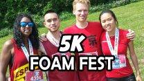 Getting Muddy! at 5K Foam Fest