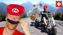 Mario Kart in the Swiss Alps