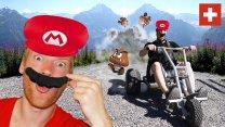 Mario Kart in the Swiss Alps