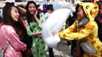 Pillow Fight Day in Toronto