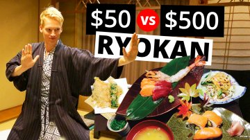 $50 vs $500 Ryokan in Hakone, Japan