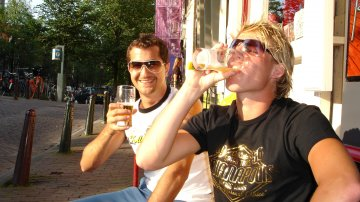 Smoking Weed In Amsterdam Prior To Sensation Black 2006