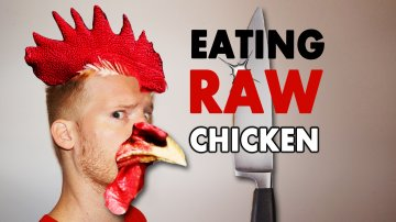 Eating Raw Chicken in Tokyo
