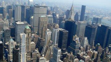 Skyline Of New York City From The Empire State Building & Rockefeller Center