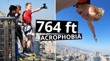 World's Highest Bungee Jump in Macau - 233 Meters
