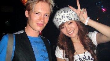 Super Euro Flash (SEF) ParaPara Dancing At A-Life Night Club In Roppongi