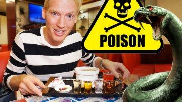 Snake Restaurant: Venom, Blood & Snake Skin Salad