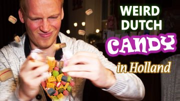 Weird Dutch Candy & Snacks Review in Holland